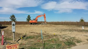 R&R Homes Hollister pre-sale excavation in Thompson Crossing 10-28-2014