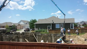 Foundation wall pour for R&R Homes new Energy Star home